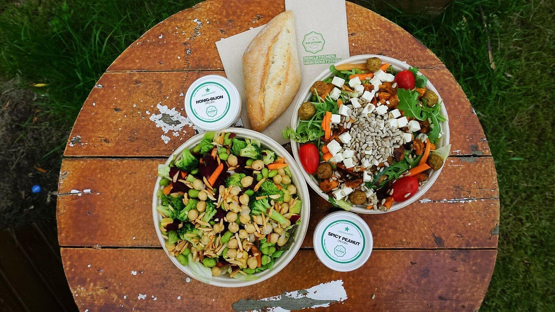 """In der Salatbar """"Salatkind"""" gibt es viele gesunde und leckere Gerichte"""