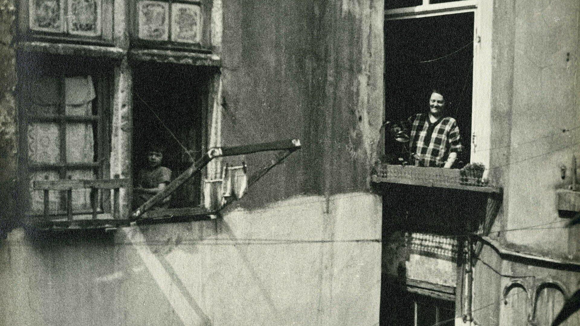 Historisches Foto von Kölner Wohnverhältnissen