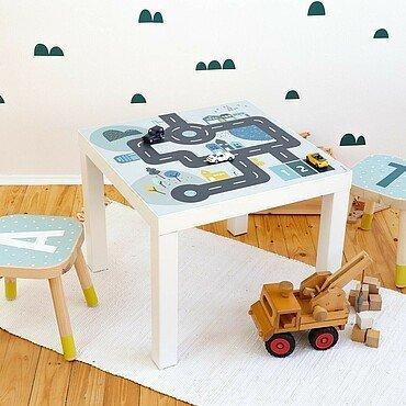 """Folie für einen Spielzeugauto-Parcours von """"Limmaland"""""""