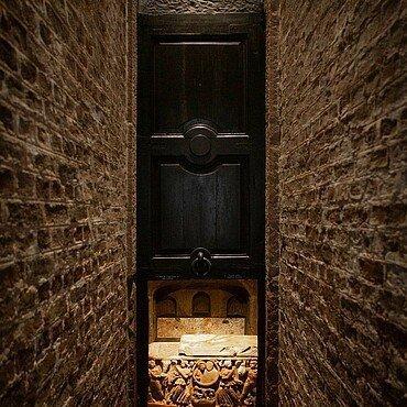 Grabkammer im Römergrab in Köln-Weiden