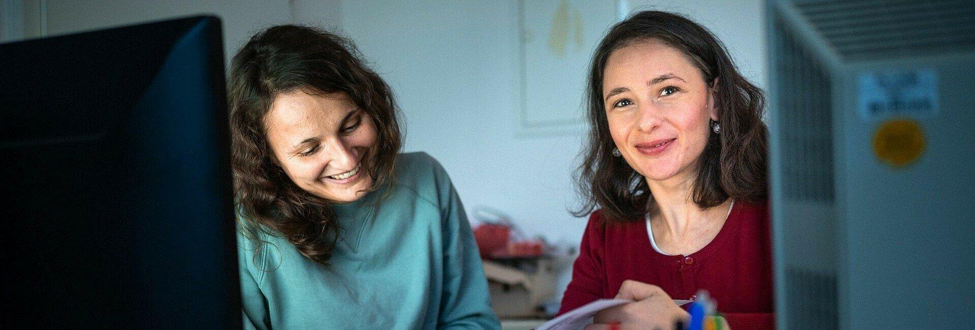 Nadine Bolz und Aneliya Angelova von der Kulturliste Köln