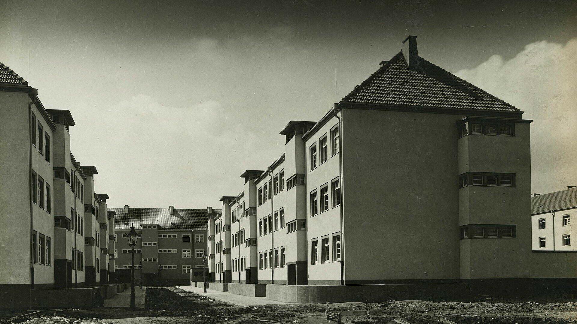 Historisches Foto der Rosenhofsiedlung in Bickendorf