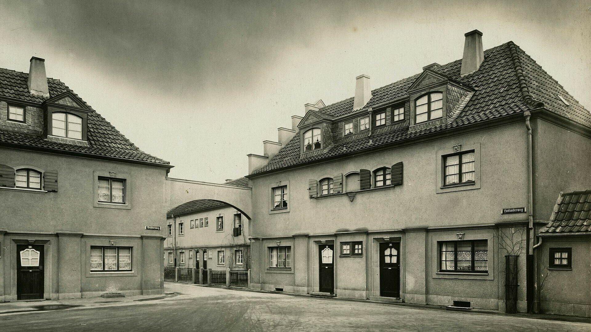 Historisches Foto der Siedlung Bickendorf I in Bickendorf