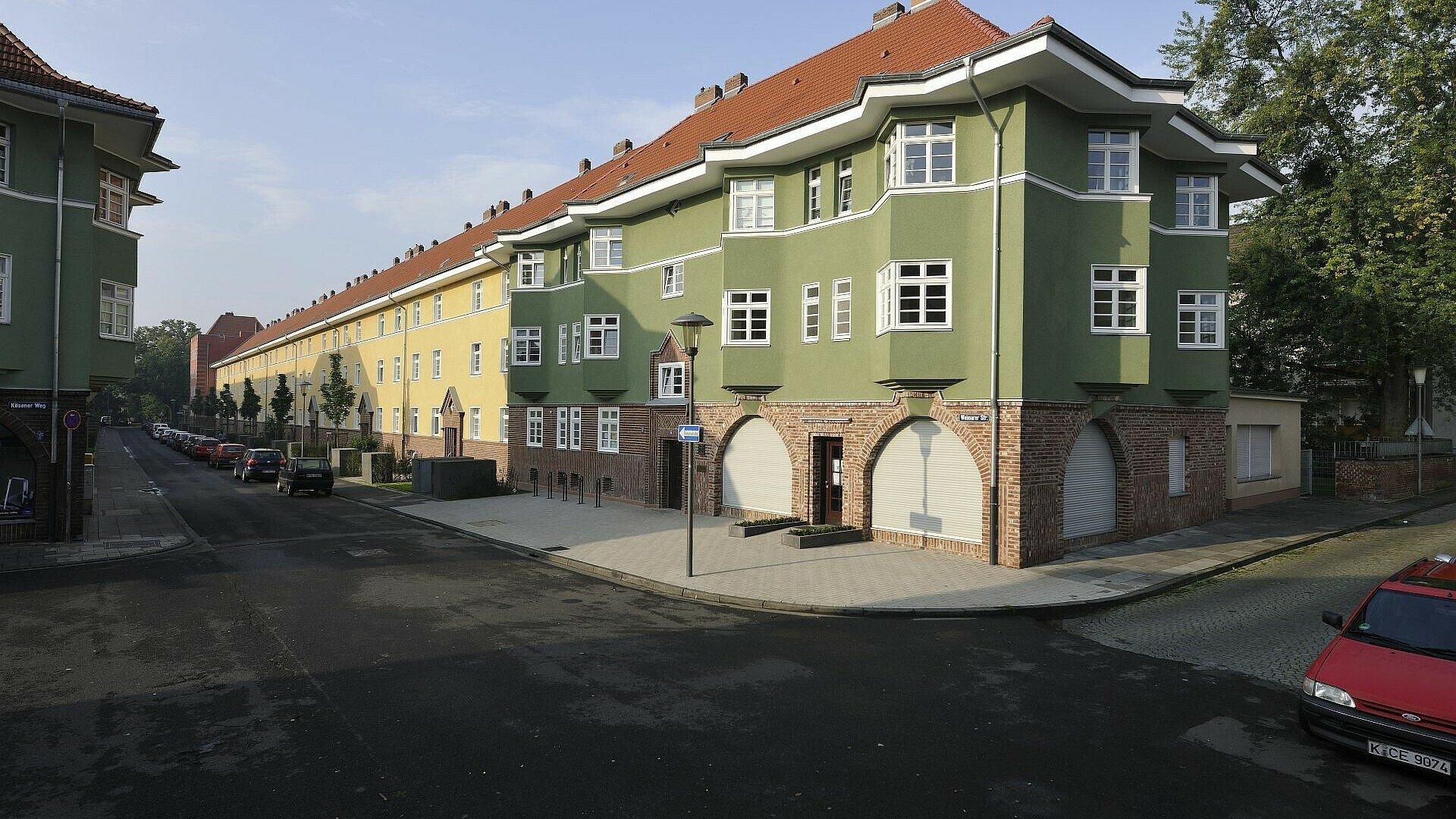 Museumswohnung von außen in der Germaniasiedlung in Höhenberg