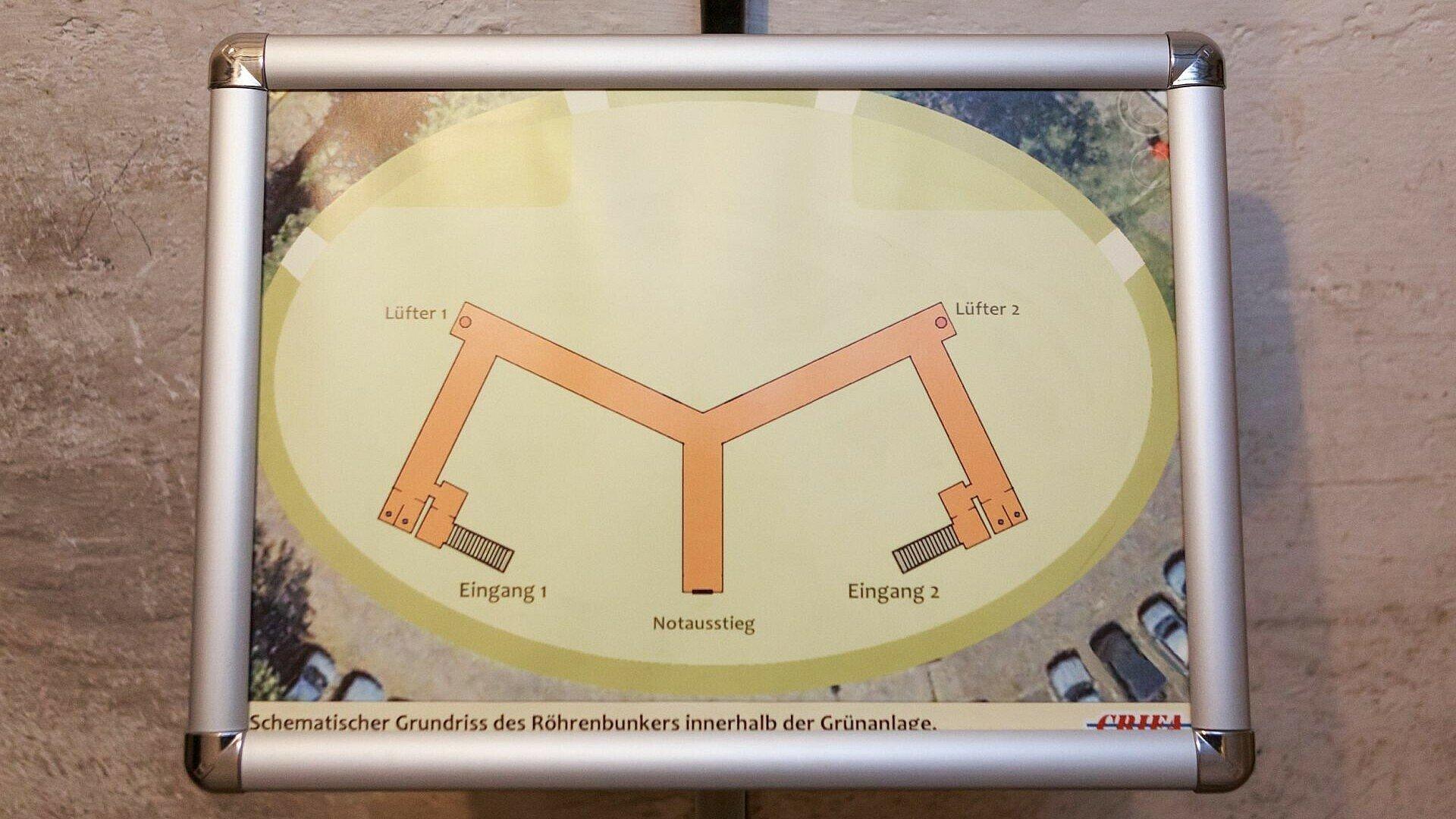 """Bild der Aufenthaltsbereiche des """"Röhrenbunkers"""" Köln"""