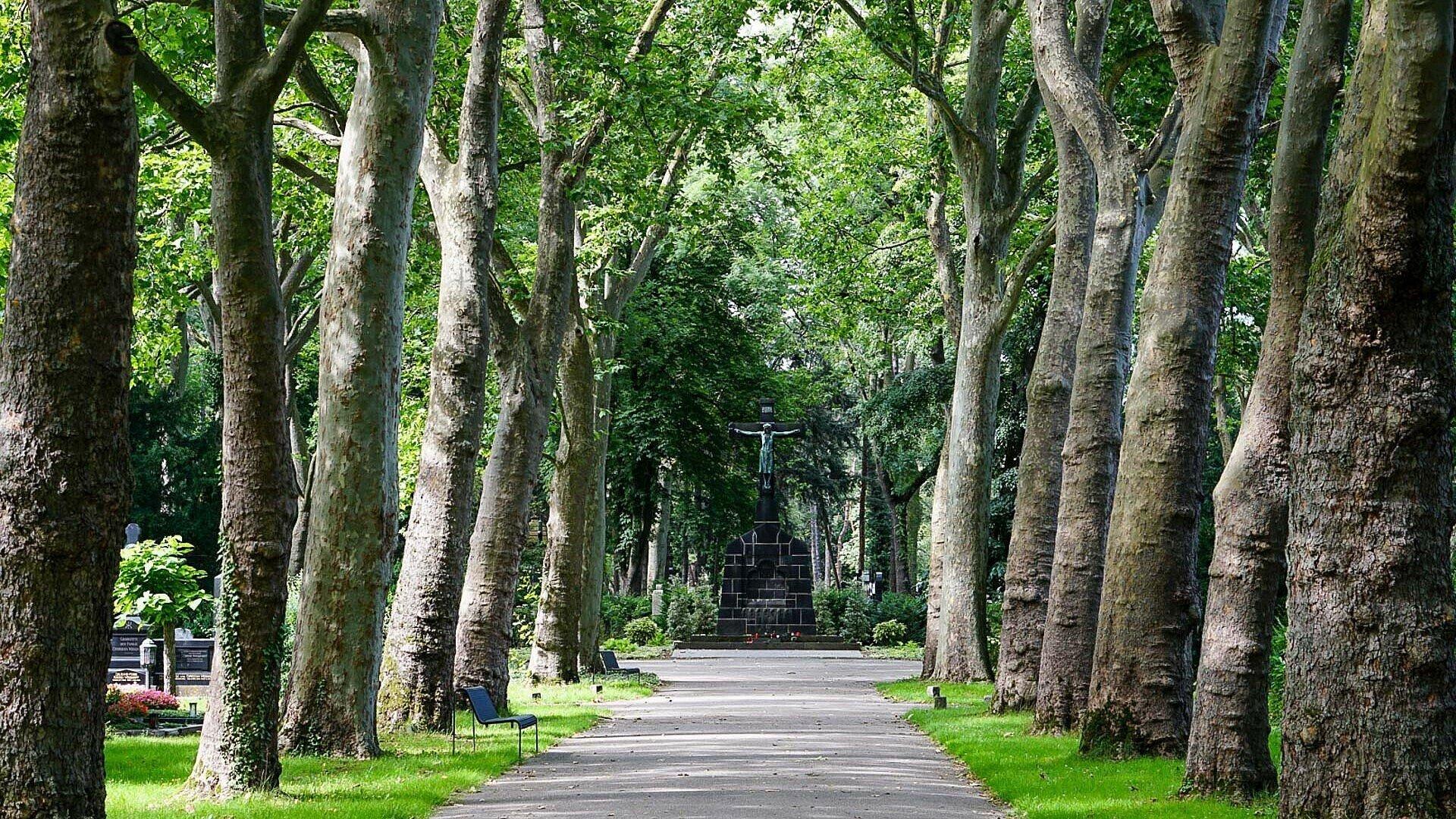 Der bekannte Melaten-Friedhof in Köln-Lindenthal