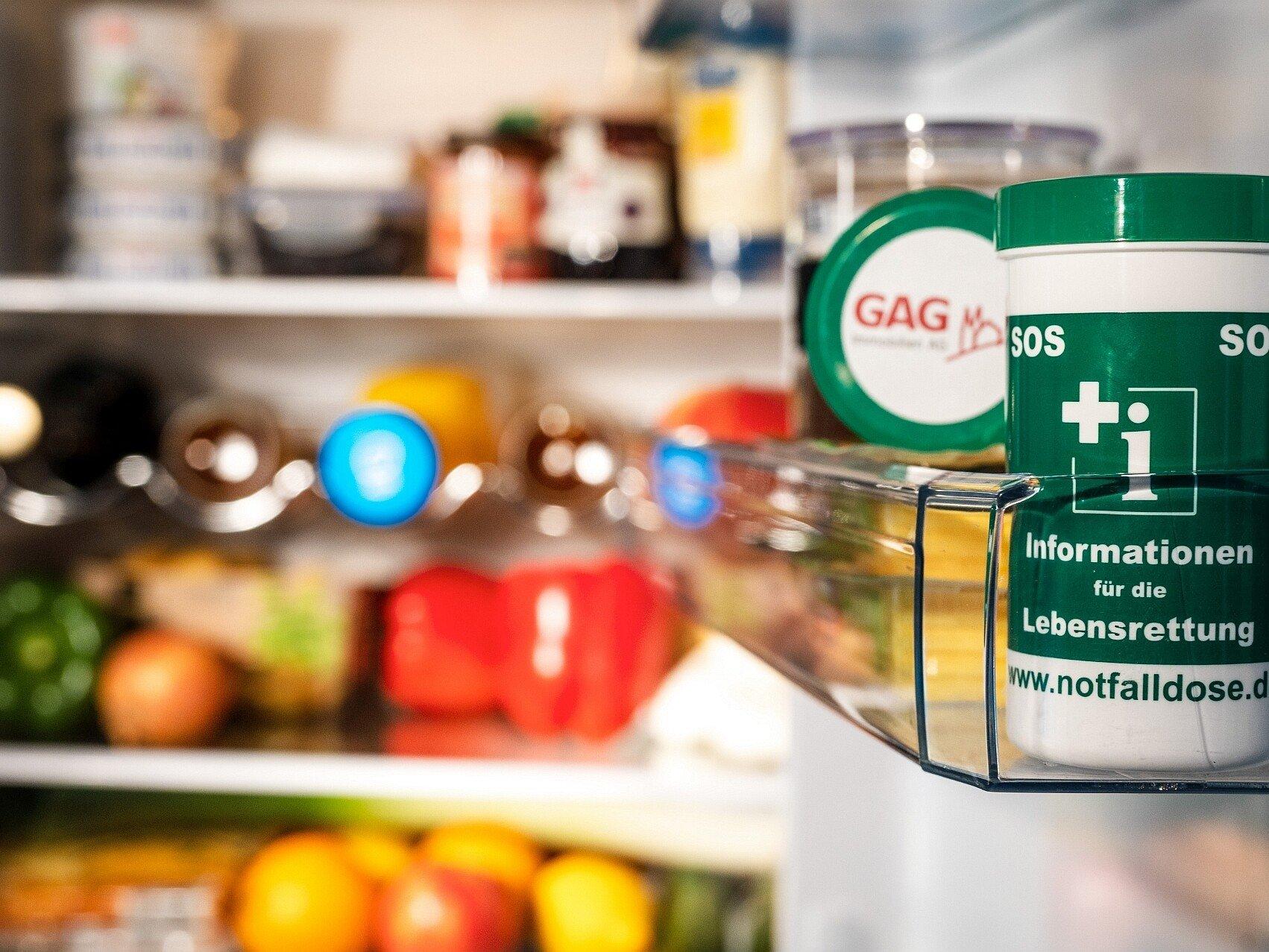 Notfalldose für den Kühlschrank in GAG-Wohnungen