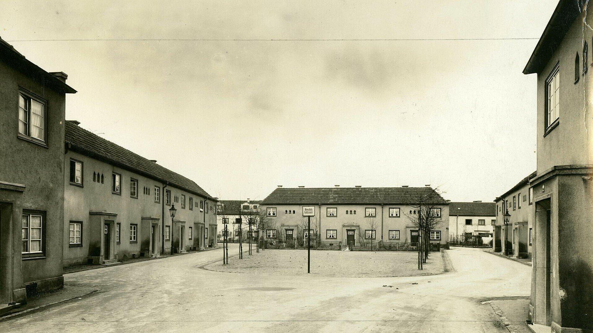 Historisches Foto von dem neuen Zuhause vieler Kölner in Mauenheim