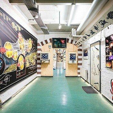 Ausstellungsbereich im Planetarium Nippes