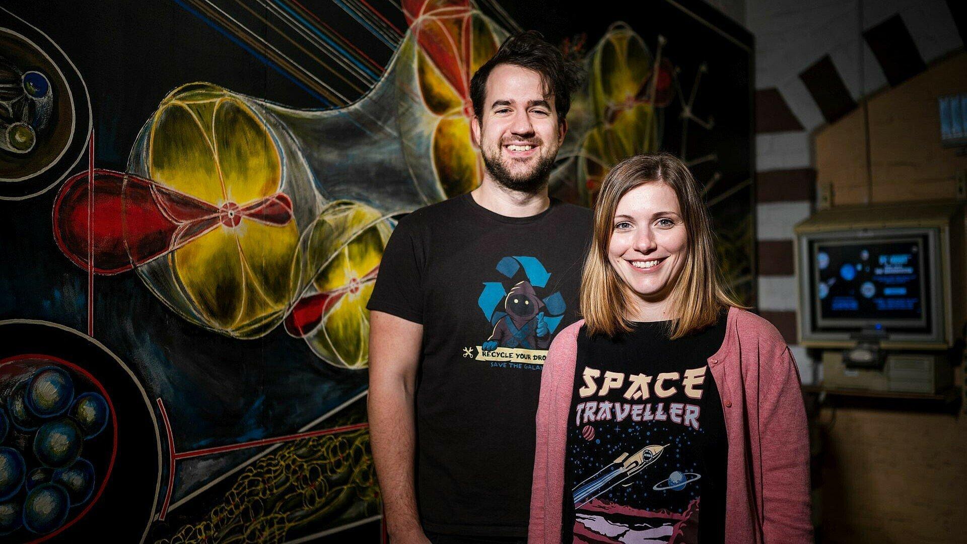 Tim und Jana Ruster vom Planetarium Nippes