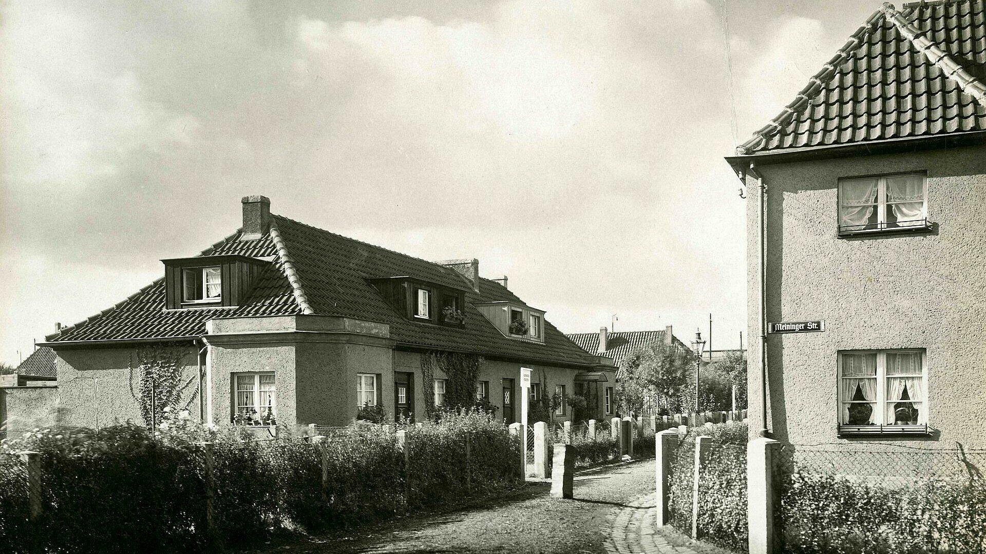 Historisches Foto von Einfamilienhäusern in der Germaniasiedlung