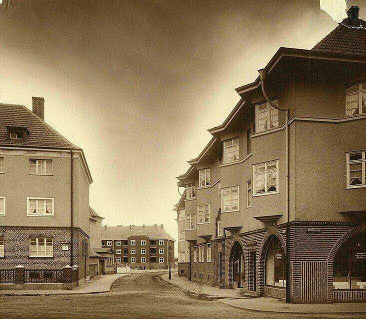 Historisches Foto der Germaniasiedlung Mitte der 1920er Jahre