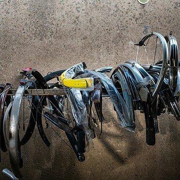 Am Fahrradbüdchen in Bickendorf kann man sich aus Ersatzteilen ein eigenes Rad zusammenbauen