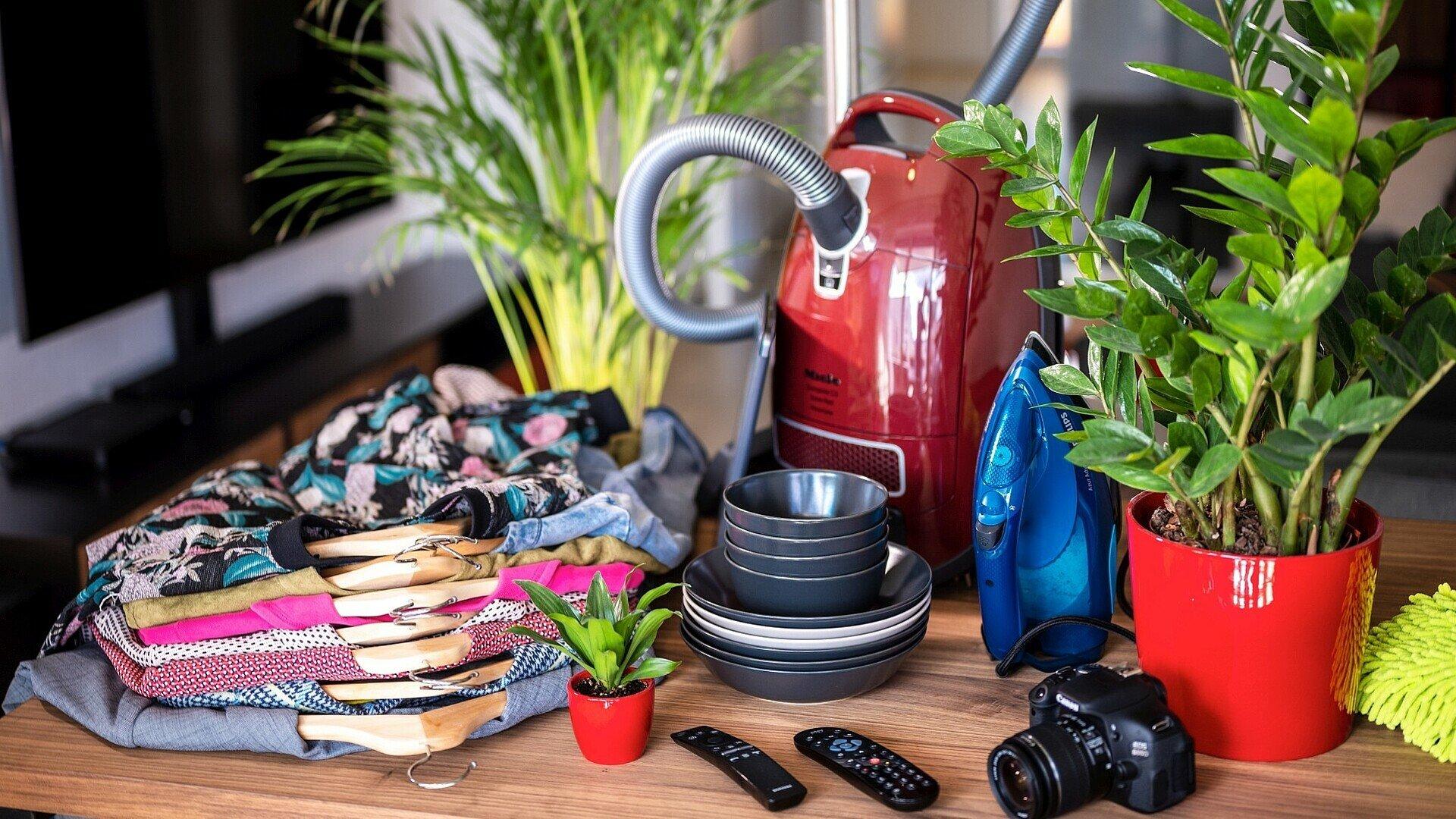 Beweglichen Gegenstände in der Wohnung