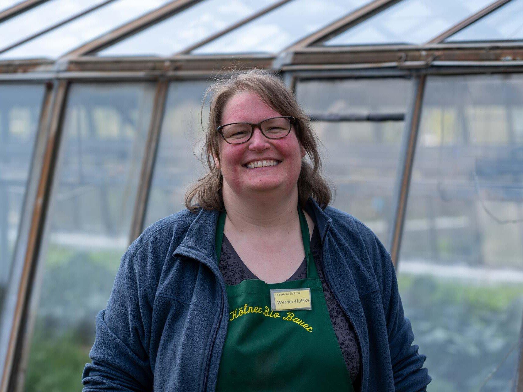 Nicole Werner-Hufsky arbeitet beim Kölner Biobauern in Humboldt/Gremberg