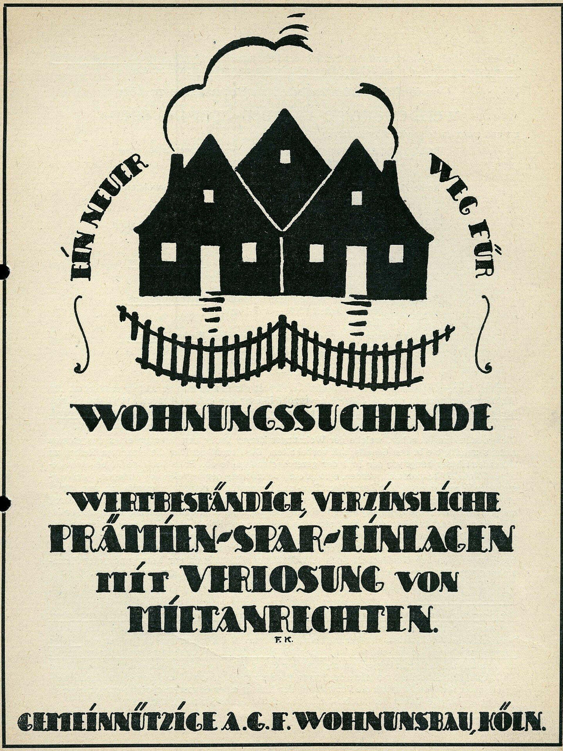 Altes Plakat von einer Kölner Genossenschaft