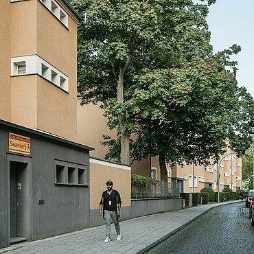 Rosenhofsiedlung in Bickendorf mit Vorgärten