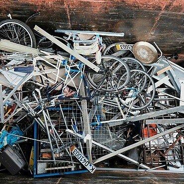 Metallschrott im Wertstoff-Center Ossendorf