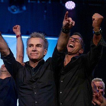 Die Gewinner von Euer Song für Köln 2019 feiern ihren Sieg