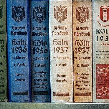 Kölner Adressbücher aus den 1930er Jahren