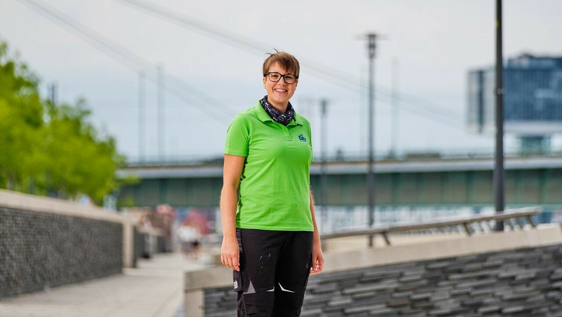 Kerstin Weiser am Rheinboulevard in Köln-Deutz