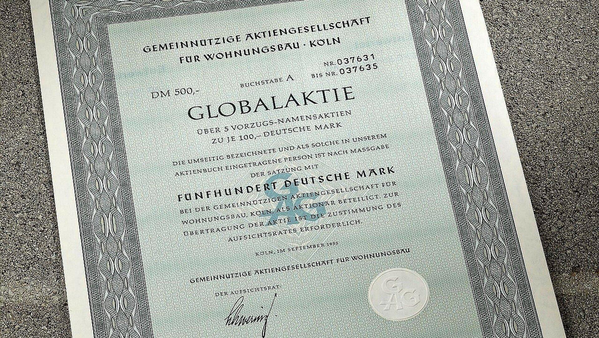 Globalaktie der GAG Immobilien AG