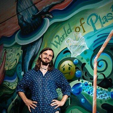 Künstler Matthias will mit dem Motiv zum Nachdenken anregen