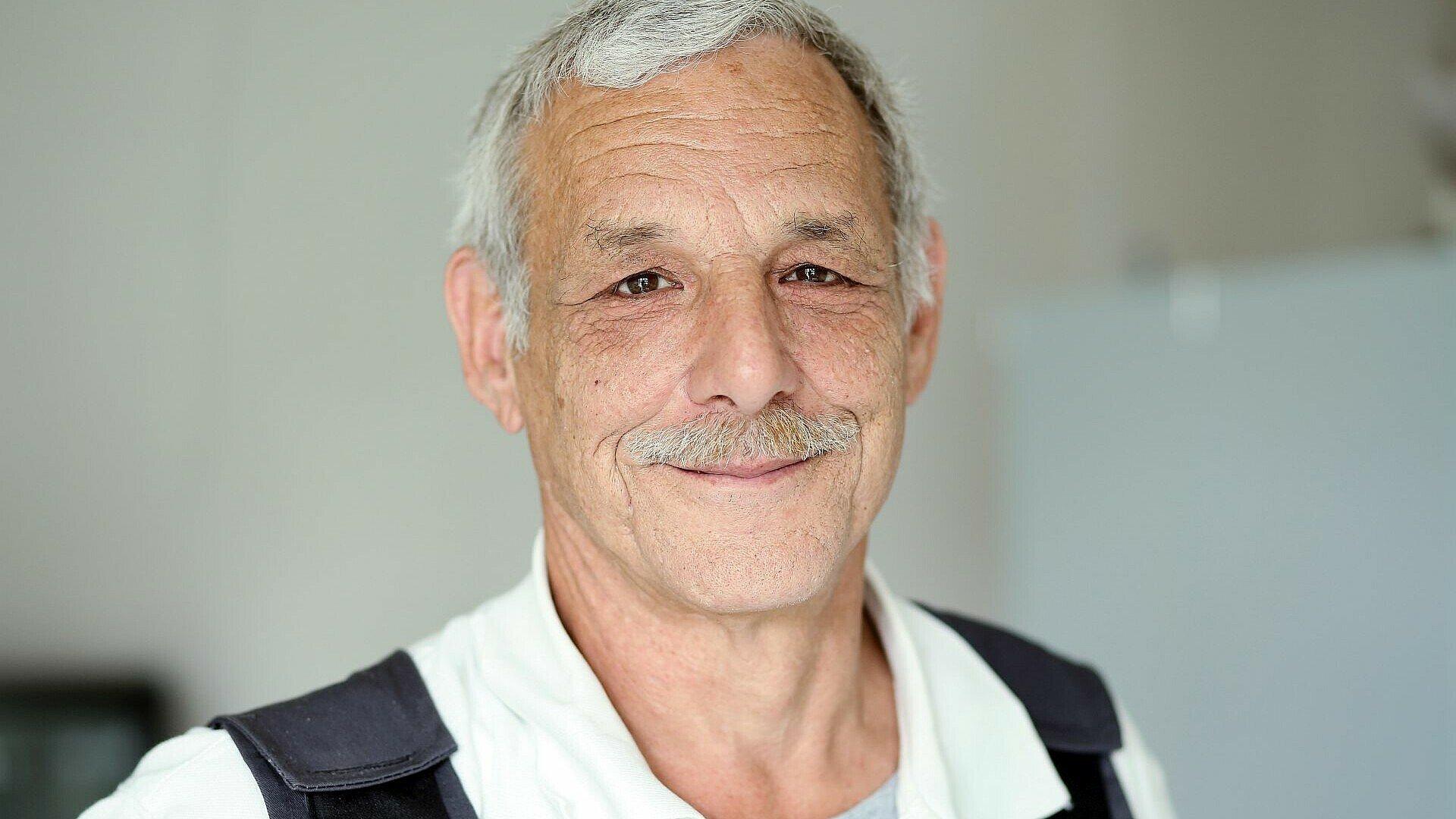 Horst Klug ist bereit für den Arbeitseinsatz