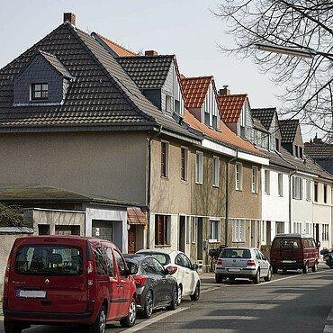 Die Straßenansichten in der Siedlung haben sich verändert