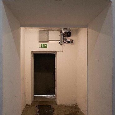 Ehemalige Schleuse im Riphahn-Bunker in Köln